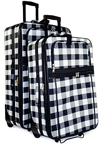 Plaid 2-Piece Luggage Set (Sets Plaid Luggage)