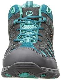 Merrell Chameleon Mid Lace Hiking Shoe (Little kid/Toddler/Little Kid/girls),Grey/Turquoise,1.5 M US Little kid