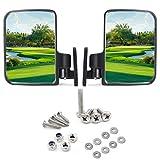 9.99WORLD MALL Espejos Laterales para Carrito de Golf para Club Car EZ-GO Yamaha y Otros
