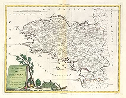Map Of Northwest France.Amazon Com Il Governo Di Bretagna Brittany Bretagne Nw France