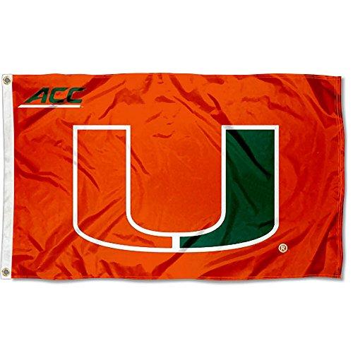 Miami Hurricanes 3x5 Flag (University of Miami Hurricanes ACC 3x5 Flag)