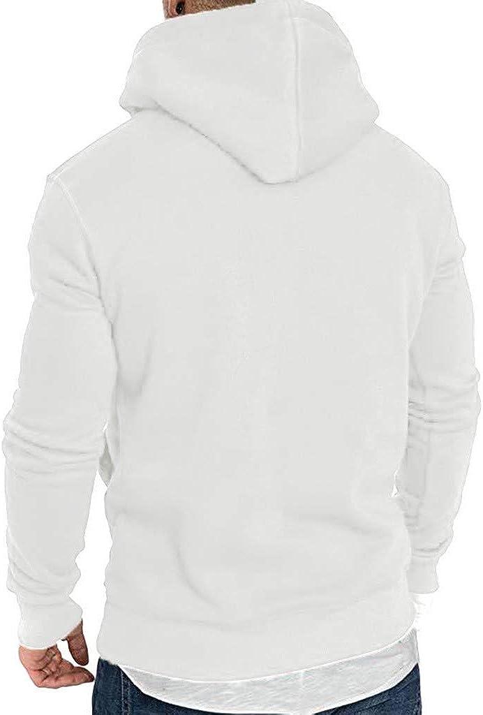 Tracksuits Autumn Winter Casual Tops Long-Sleeved Zipper T-Shirt Solid Hooded Blouse Beautyfine Sweatshirts Mens Hoodies