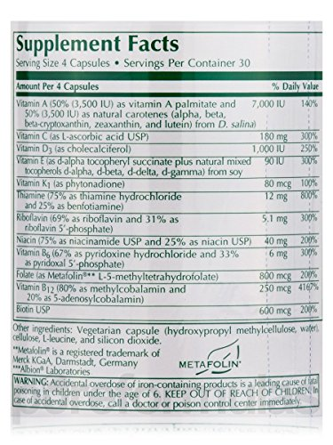 Klaire Labs (ProThera) Vitalactiv Bariatric Multivitamin/Mineral Supplement, 120 Capsules