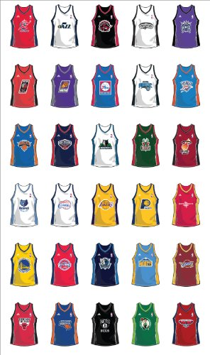 super popular 51764 263d5 Amazon.com: NBA teams jersey 30 wall decals stickers: Home ...