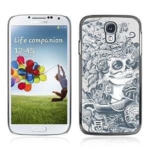 YOYOSHOP [Sugar Skull Abstract Art] Samsung Galaxy S4 Case