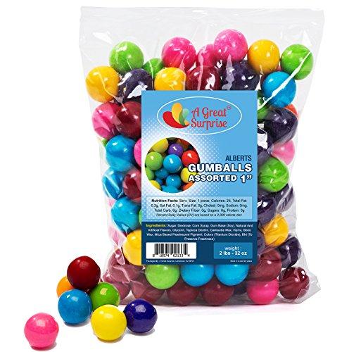Gumballs in Bulk - Gumballs Refill - Gumballs for Gumball Machines - Gumballs 1 Inch - Bulk Candy 2 LB