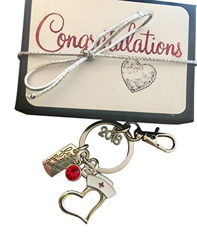Graduation Key - 2018 Nursing Graduation Gift Key chain Nursing School Acceptance Gift