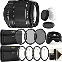 Canon EF-S 18-55mm f/3.5-5.6 IS II Lens with UV CPL Filter Ultimate Accessory Kit for Canon EOS 550D 500D 450D 400D