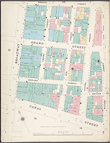 Map Poster - Manhattan, V. 1, Plate No. 23 west half [Map bounded by Broome St., Baxter St., Canal St., Broadway] 11