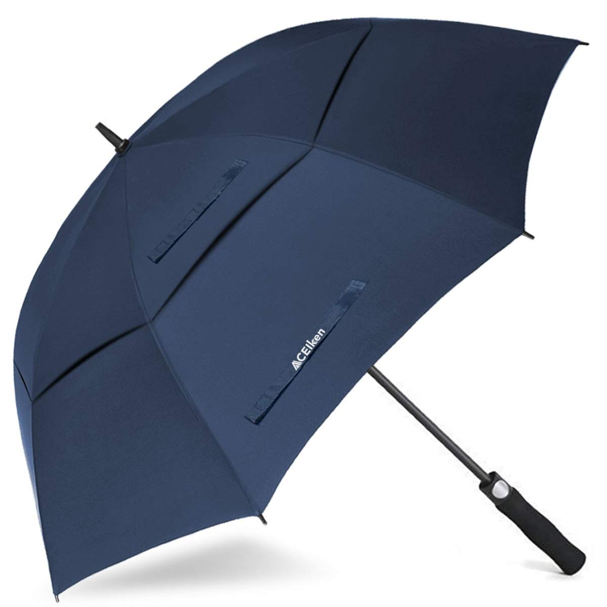 ACEIken Golf Umbrella Large 62 Inch Automatic Open Golf Umbrella Extra Large Oversize Double Canopy Vented Umbrella Windproof Waterproof for Men and Women by ACEIken