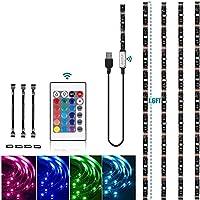 6.56ft Tira LED para TV, ODAR RGB Tiras LED TV, 16 Colores Regulables y 4 Modos, Retroiluminacion LED por USB con…