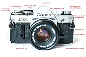 Canon AE-1 35mm Film Camera w/ 50mm 1:1.8 Lens from OLDCAMS