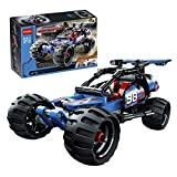 Kids Racing Car Construction Building Blocks and Bricks Intelligence Learning and Activity Toys for Children Girls Boys Age Over 6 Years Old, Model 3411 Blue, 160pcs