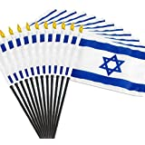 12 pack of 4x6 Inch Israeli Flags (12 Pack)