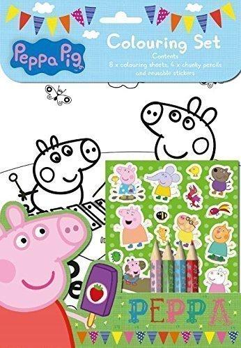 The Home Fusion Company Peppa Pig Pack De Jeu Colorer Set Stickers 4