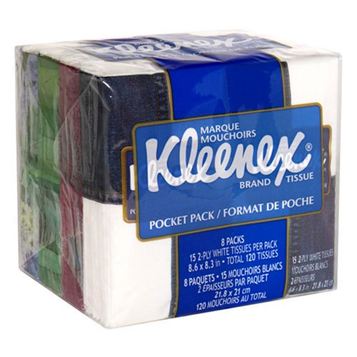 Kleenex White Pocket (Kleenex Pocket Pack White Tissue)