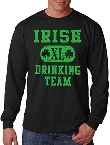 Interstate Apparel Inc Men's Irish Drinking Team Black Long Sleeve T-Shirt Black – DiZiSports Store