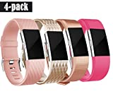 Tobfit Fitbit Charge 2 Bands - Soft Material Classic Special Edition Fitbit Charge 2 Accessories Wristbands for Fitbit Charge 2 HR - Multi Color - Small Large (Small - 4 pack# Mix2 Classic & Special)