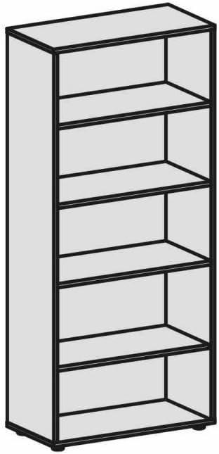 Gera M/öbel Schranksystem Flex Regal Holzdekor ahorn 80 x 40 x 180.8 cm