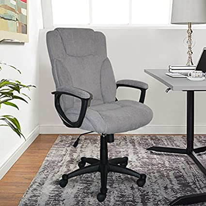B Serta Style Hannah II Office Chair Microfiber Gray