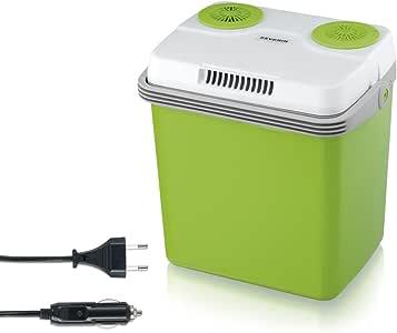 Severin Kb 2922 Elektrische Koelbox, Met Koel- En Warmhoudfunctie, 20 L, Incl. 2 Aansluitingen, Groen-Grijs
