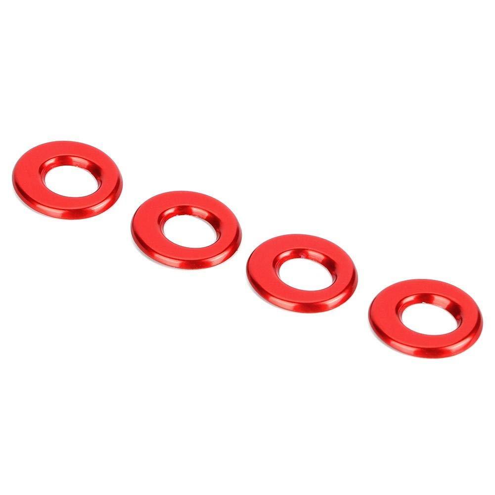 Anneau de garniture de verrouillage de porte de voiture boutons de goupille de verrouillage d/él/évation de porte 4pcs Fit pour GLA//GLC Nouveau Classe E Classe rouge