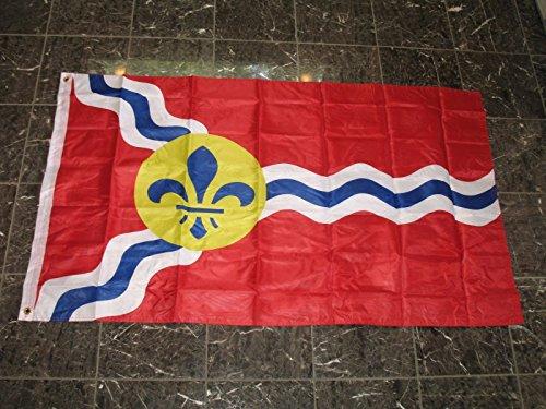 (3X5 City Of St Saint Louis Missouri Flag 3'X5' Double Sided 2Ply Nylon)