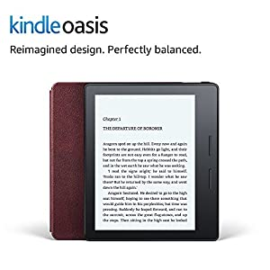 """Kindle Oasis E-reader with Leather Charging Cover - Merlot, 6"""" High-Resolution Display (300 ppi), Wi-Fi - Includes Special Offers"""