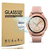 Diruite 4-Pack for Samsung Galaxy Watch 42mm Screen Protector Tempered Glass for Galaxy Watch 42mm [2.5D 9H Hardness] [Anti-Scratch] [Bubble-Free] - Permanent Warranty Replacement