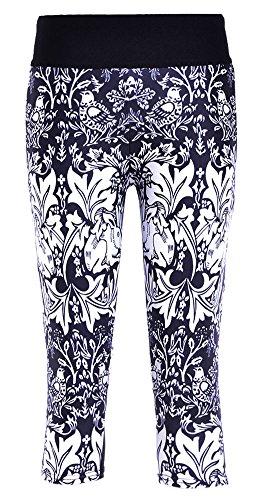 47ec07df428f7 Sister Amy Women's 3D Pattern Printed Workout Running Capri Pants Crop  Leggings