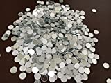 Set of 200pcs Small Round Glass Crafts, Real Glass Mirror Mosaic Tiles (1x1cm)