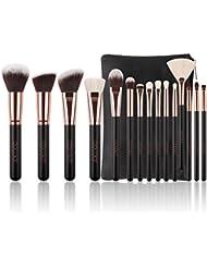 Docolor Makeup Brushes 15 Piece Makeup Brushes Set Premium...