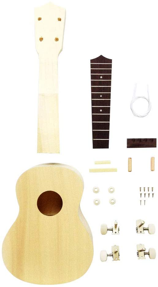Zimo DIY Ukulele Make Your Own Ukulele Hawaii Ukulele Kit (21inch)