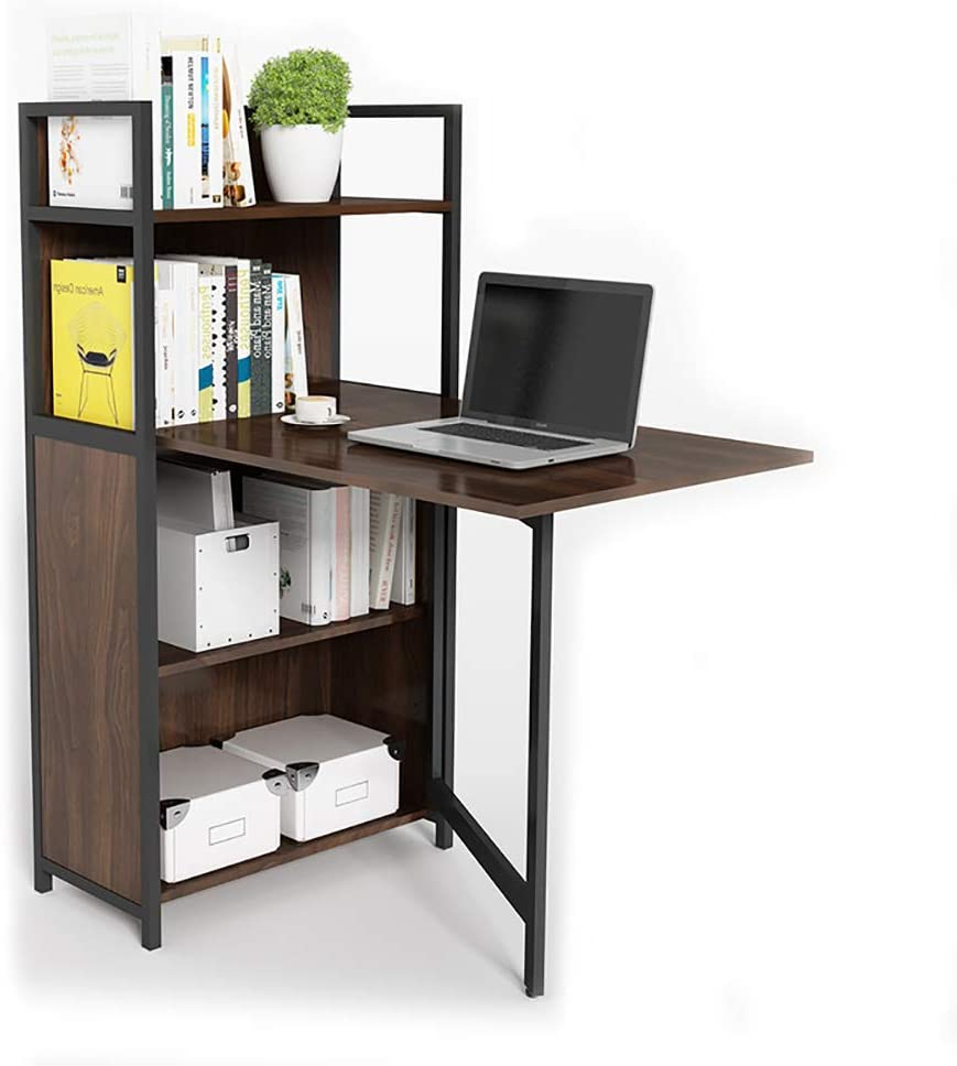 Amazon.com: Folding Computer Desk Bookshelf Corner Desk