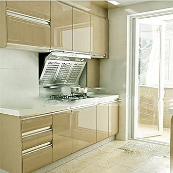 Yazi Champagne Self Adhesive PVC Shelf Liner Kitchen Contact Paper 24x98  Inches Valentineu0027s Day Gift