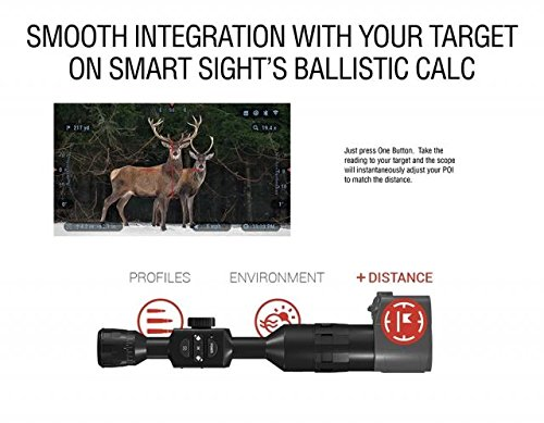 513J8cFjUWL - ATN Laser Ballistics 1500 Smart Laser Rangefinder w/Bluetooth, device works with Mil and MOA scopes using Ballistic Calculator App