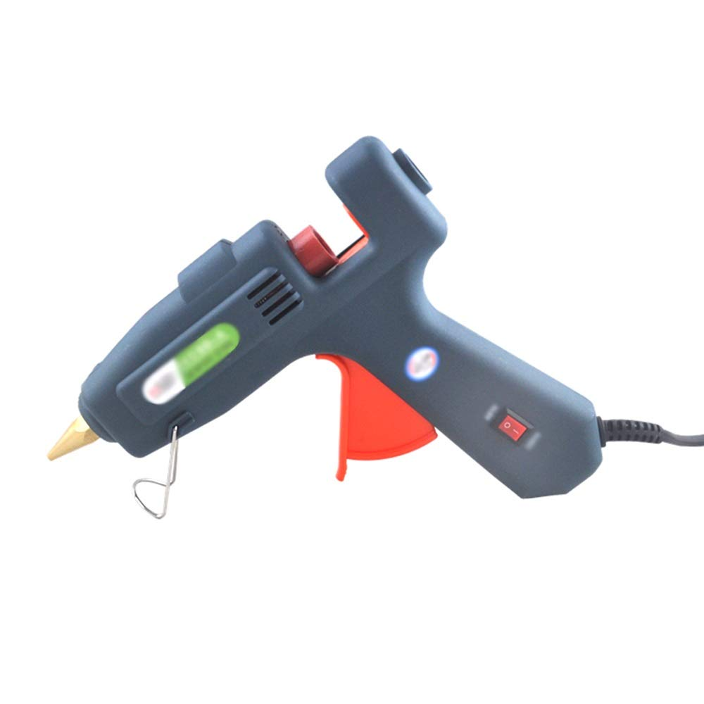 GYZ Hot melt Glue Gun -60W-100W Interchangeable, Manual Glue Gun Electric Glue Gun + melt Glue Stick, Fast Heating - Suitable for DIY Crafts Home Repair (Gray) Hot Melt Glue (Color : G)
