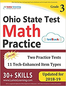 Ohio State Test Prep: 3rd Grade Math Practice Workbook and
