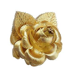 12 Silk Roses Wedding Favor Flower Corsage Gold 3
