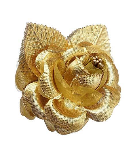 12 Silk Roses Wedding Favor Flower Corsage Gold