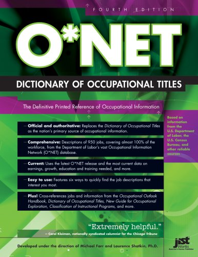 Download O*NET Dictionary of Occupational Titles PDF