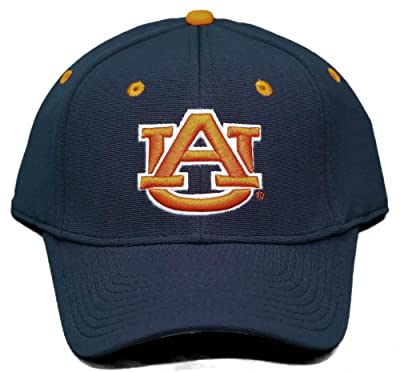 New! University of Auburn Tigers Velcro Back Hat 3D Embroidered Cap - Navy Blue from Outdoor Cap Company Headwear