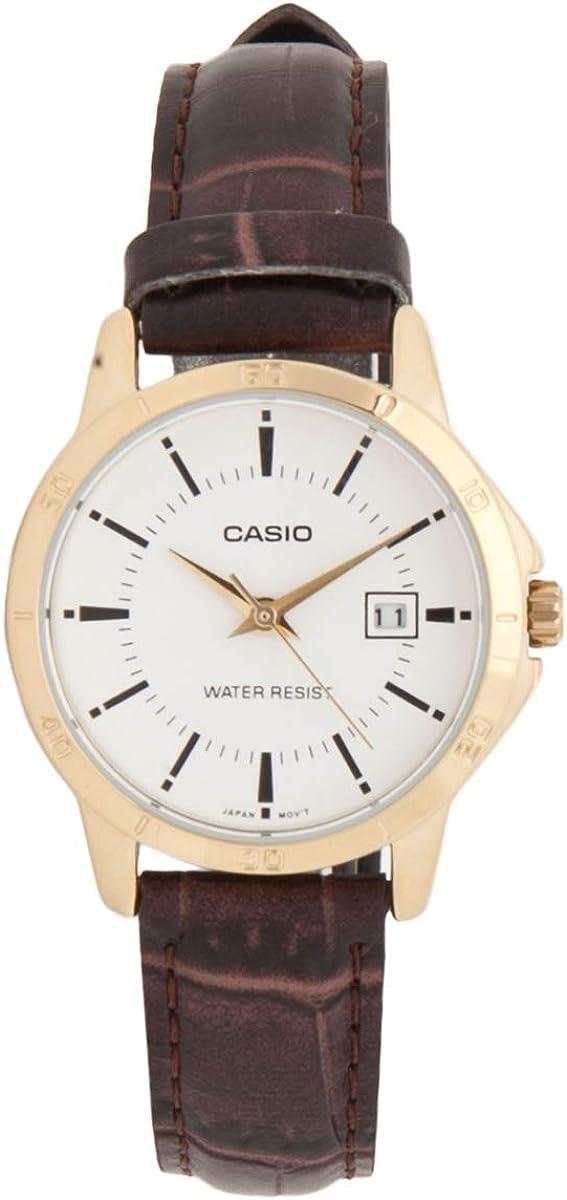 Casio Women s LTP-V004GL-7A Genuine Leather Band Analog Watch