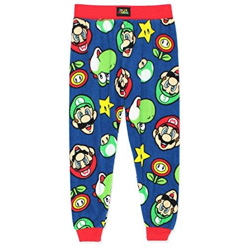 Super Mario Boys Fleece Pajama Pants (Medium / 8, Navy) (Yoshi Yoshi By Pj)