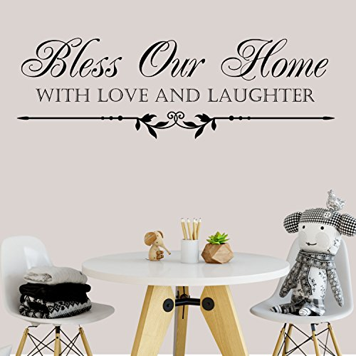 Decal the Walls Bless Our Home with Love and Laughter Vinyl Wall Quote Decal by Decal the Walls