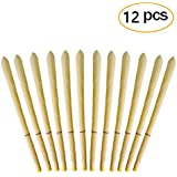 Beeswax Candling Cones - Natural Beeswax Candle Cones 100% Non-Toxic Beeswax(12 Pack)