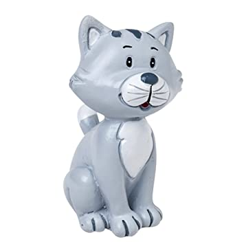 Mopec Figura Pastel de Novios con Mascota Gato, Poliresina, Gris, 3.5x3x5.5 cm 2 Unidades: Amazon.es: Hogar