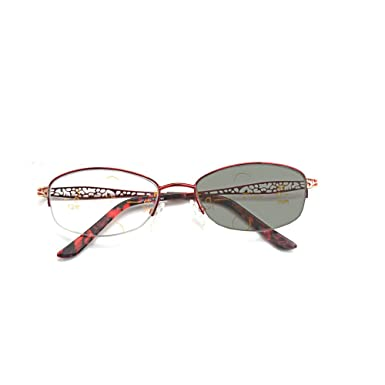0bd73c2034 Amazon.com  MINCL Sun Photochromic Progressive multifocal Reading Womens  Classic Oval Vintage Glasses  Clothing