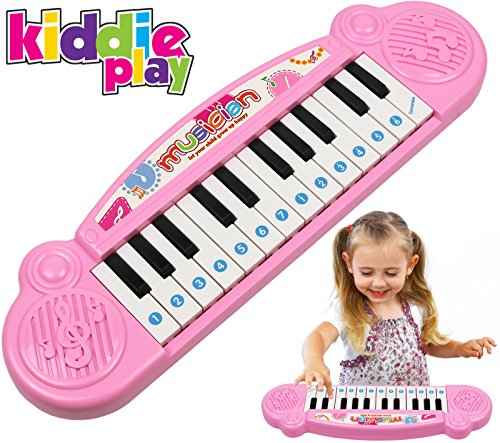 Kiddie Play Mini Electronic Toy Piano, Multi-function Keyboard 9 Pre-loaded Demo Songs
