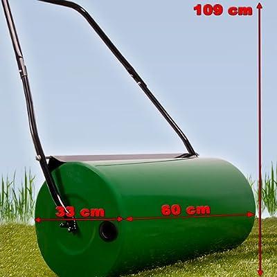 Mano césped rodillo rodillo rodillo rodillo de jardín césped rodillo aireador césped metal: Amazon.es: Jardín